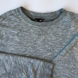 Cozy Grey Crew Neck Sweater