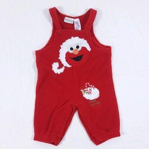 Sesame Street Other - NWOT Elmo Santa Christmas Fleece Suit Holiday