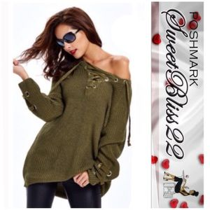 Sweaters - 💋Lace Up Sweater💋