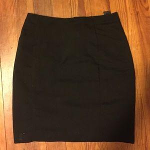 H&M Black Professional Pencil Skirt