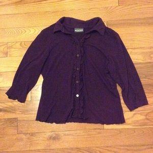 Notations plum blouse