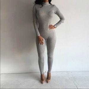 Pants - Jumpsuit grey romper