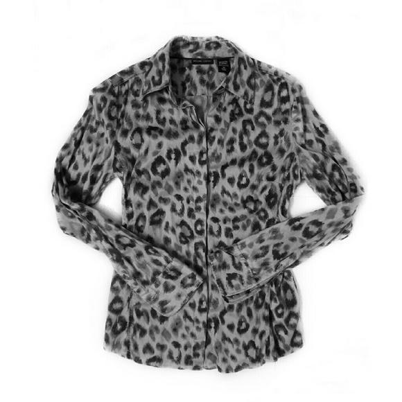 4b2bb0ded00 New York   Company Women s Leopard Print Shirt M. M 5830df14c284561d8704b6e9