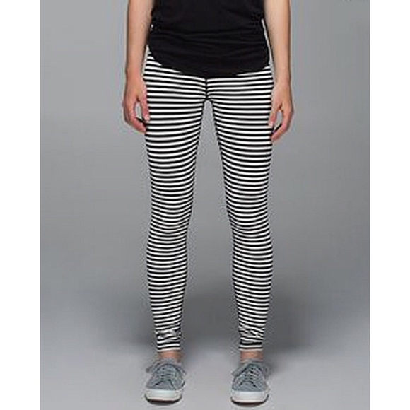 6adb559de lululemon athletica Pants - Lululemon Classic Stripe Wunder Under Pants  Skinny