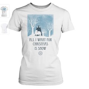 Tops - All I want for Christmas is snow relaxed tee