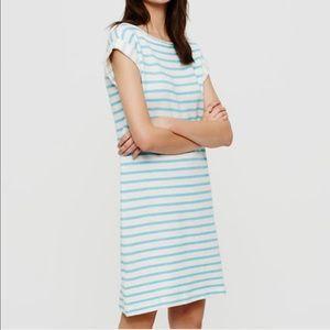 Lou and Grey Striped Sweatshirt Shift Dress