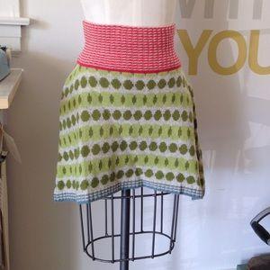 ORLA KIELY Wool Mini Sweater Skirt