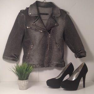 Zara Moto Jean Jacket