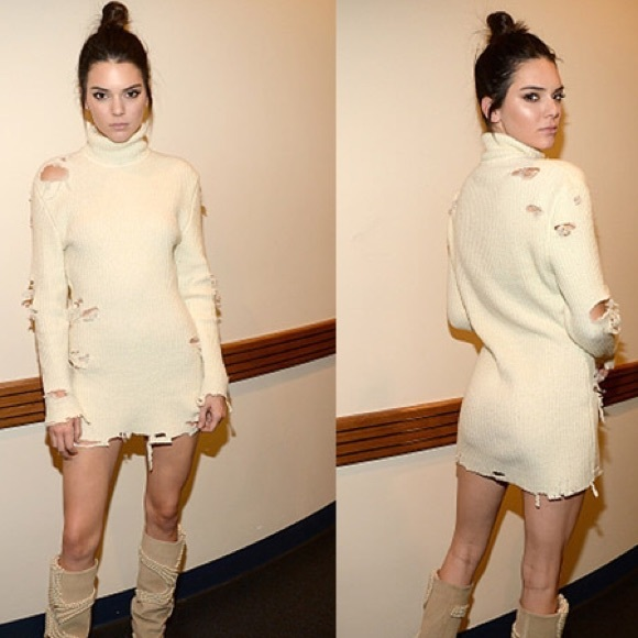 Balmain Sweaters Yeezy Look Alike Destroyed Knit Mini