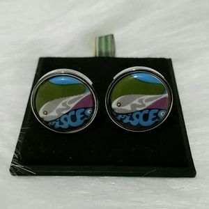 Other - Pisces Silver Toned Fish Cufflinks