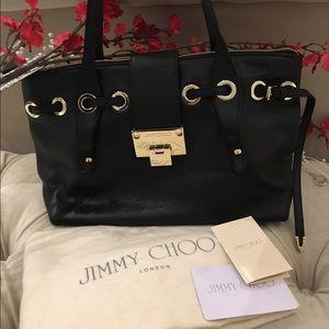 Jimmy Choo Handbags - ✨BN Jimmy Choo Black Leather w/ Gold Accents✨