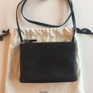 Celine Handbags - Small Celine Trio- Crossbody Black
