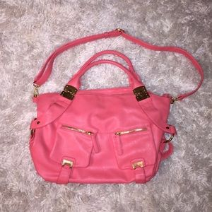Pink/ gold tote