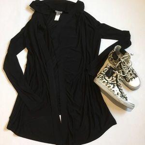 Helmut Lang Sweaters - Helmut Lang Black Jersey Cardigan