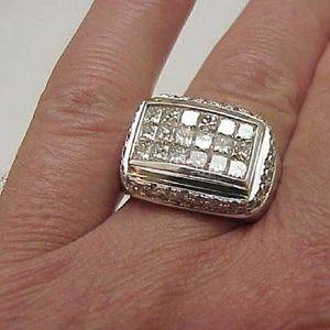 Other - Unique Men's 5.50ct Diamond 18k White gold  Ring