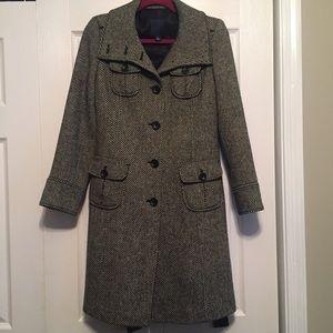 Womens GAP Wool Trench Coat