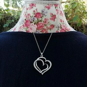 Jewelry - Double heart statement necklace