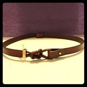 Michael Kors Accessories - MICHAEL KORS brown leather belt loop / knot NWT
