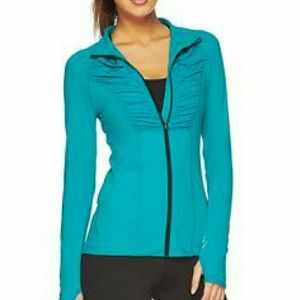 Lorna Jane Jackets & Blazers - Teal Zip-Up Activewear Jacket