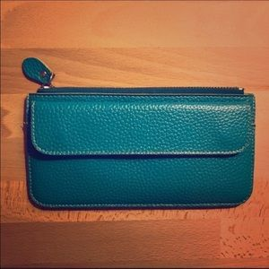 Handbags - Teal faux leather wallet