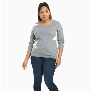 60% off torrid Sweaters - NWT Torrid Gray Sweater With Pink Stars ...
