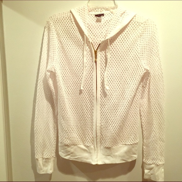 White fishnet hoodie with gold zipper. M 58310011bf6df5a2dc051f33 3f99d3881
