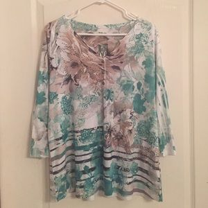 Style & Co. - Floral 3/4 sleeve tunic.