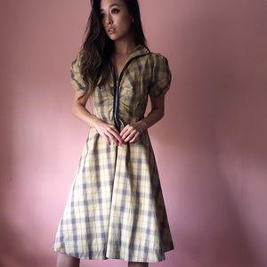 Alexander McQueen Dresses & Skirts - Alexander McQueen Mustard Tartan Plaid Dress