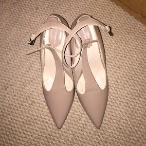 Nude Zara ankle strap pumps