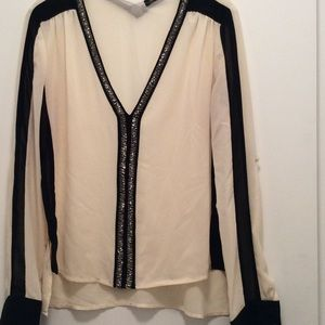 do & Be Tops - Do & Be beaded blouse used size m