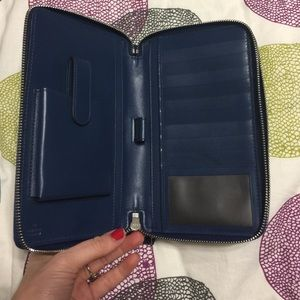 794a3d13799b59 Gucci Bags | New Diamante Leather Travel Wallet In Navy | Poshmark