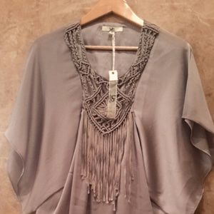 Other - Boutique Ya Fringe Blouse Brand New With Tags