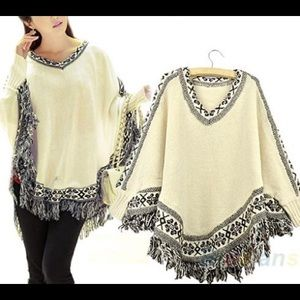 Sweaters - Tribal Poncho