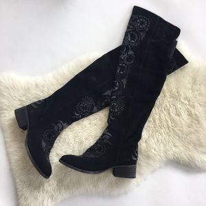 Free People High Noon Suede Over the Knee Boots
