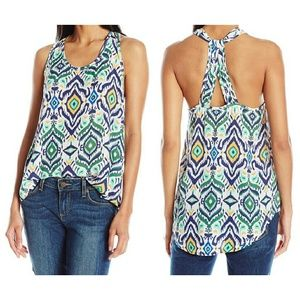 UNIONBAY Tops - ✨1 M Left✨ Moroccan Print High-Low Rayon Tank NWT