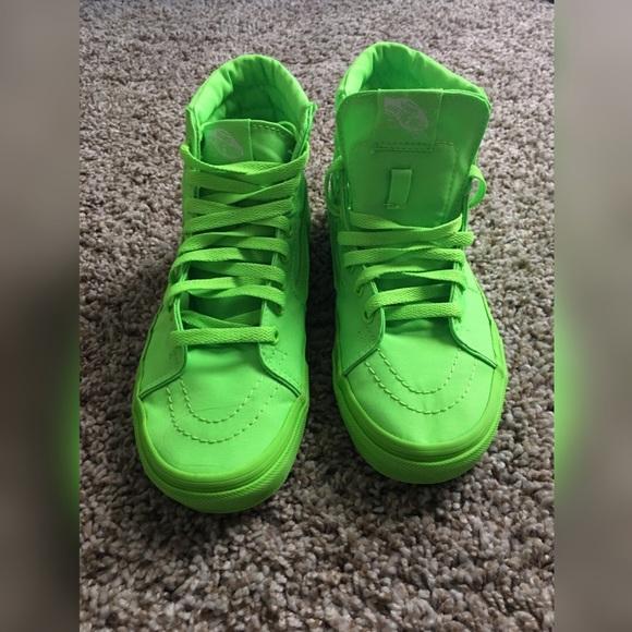 Vans Shoes | Lime Green High Top Vans
