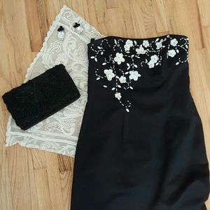 Dresses & Skirts - Flower Embellished Formal Dress