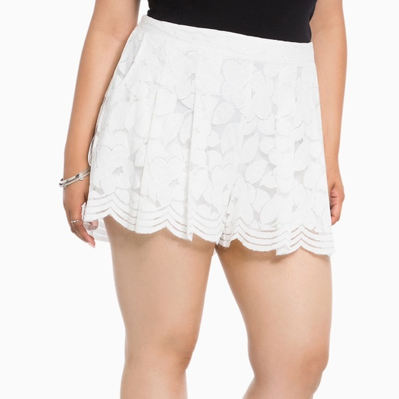 torrid - 💔sold! torrid flowy lace shorts plus size from