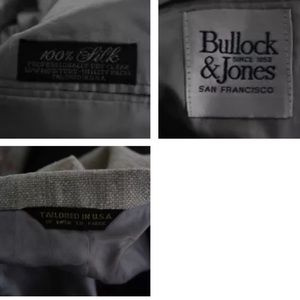 Bullock and Jones Suits & Blazers - BULLOCK & JONES BEIGE SILK TWO BUTTON SZ 46