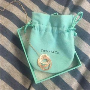 Authentic Tiffany & Co interlocking ring necklace