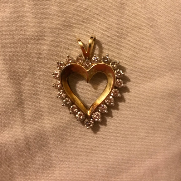 33 off zales jewelry diamond heart pendant from sally 39 s for Where is zales jewelry