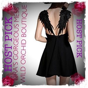 Wild Orchid Boutique Dresses & Skirts - 💕HOST PICK💕BNWT LBD WITH WINGS ON BACK