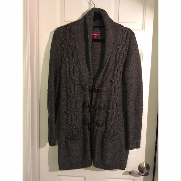 50% off Merona Sweaters - Grey Sweater-coat with Toggle Closures ...