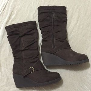 Mudd Wedge Shoes Brown
