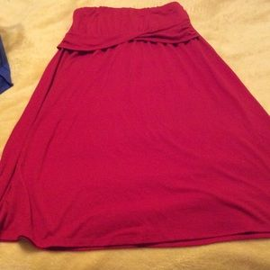 Red Strapless Old Navy Dress