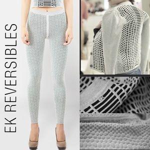 Emily Keller Pants - EK Reversible Leggings in Lt Gray/Black