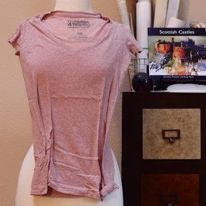 Tops - V-neck pink tee.