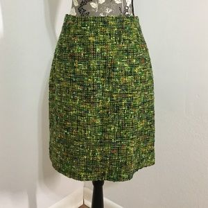 Dresses & Skirts - Tweed lime green & multi colored skirt