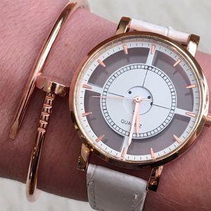 💣HP💣 Transparent Geometric Watch Rose Gold