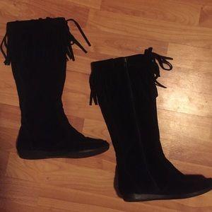Nine West Shoes - Black Nine West moccasin boots